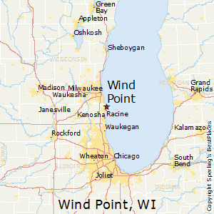 Wind_Point,Wisconsin Map