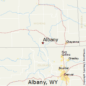 Albany,Wyoming Map
