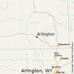 Arlington,Wyoming Map