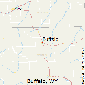 Buffalo,Wyoming Map