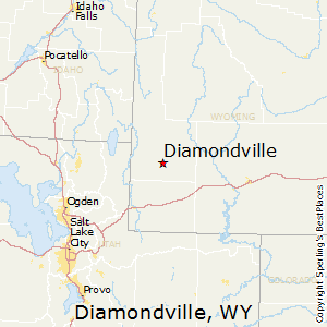 Diamondville,Wyoming Map