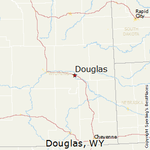 Douglas,Wyoming Map