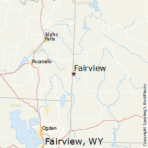 Fairview,Wyoming Map
