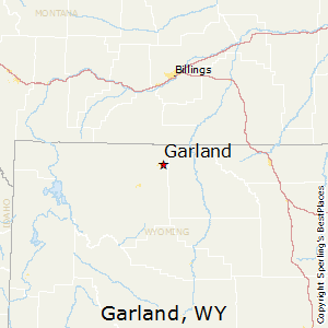 Garland,Wyoming Map