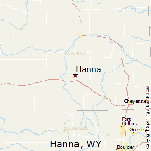 Hanna,Wyoming Map