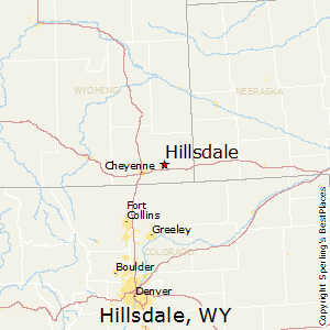Hillsdale,Wyoming Map