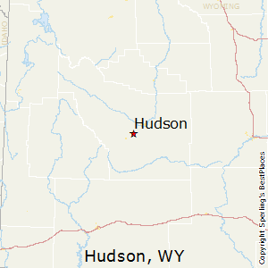 Hudson,Wyoming Map