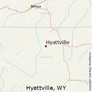 Hyattville,Wyoming Map