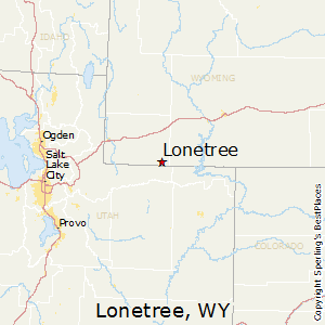 Lonetree,Wyoming Map