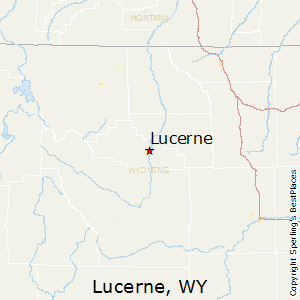 Lucerne,Wyoming Map