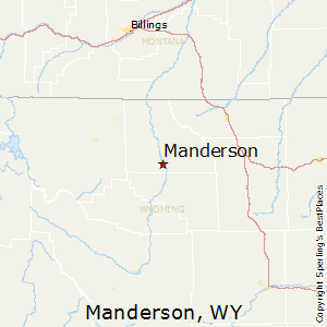 Manderson,Wyoming Map