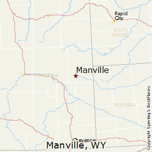 Manville,Wyoming Map