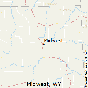 Midwest,Wyoming Map