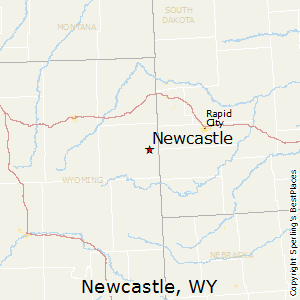 Newcastle,Wyoming Map