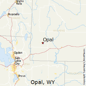 Opal,Wyoming Map