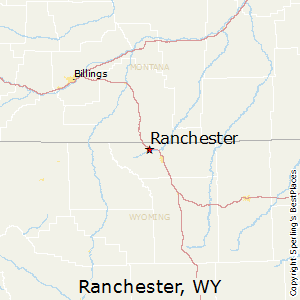 Ranchester,Wyoming Map