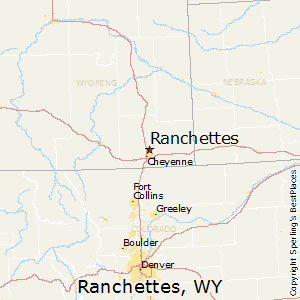 Ranchettes,Wyoming Map
