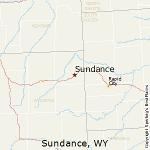 Sundance,Wyoming Map