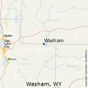 Washam,Wyoming Map