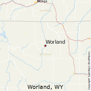 Worland,Wyoming Map