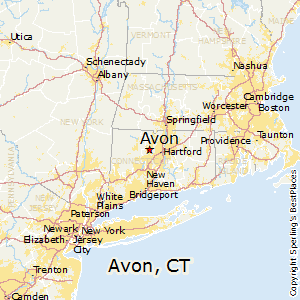 Avon,Connecticut Map