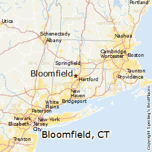 Bloomfield,Connecticut Map