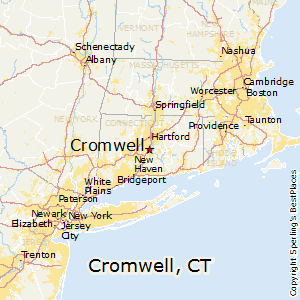 Cromwell,Connecticut Map
