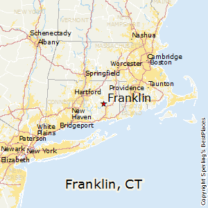 Franklin,Connecticut Map