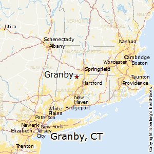 Granby,Connecticut Map