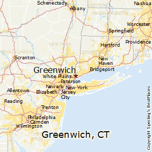 Greenwich,Connecticut Map