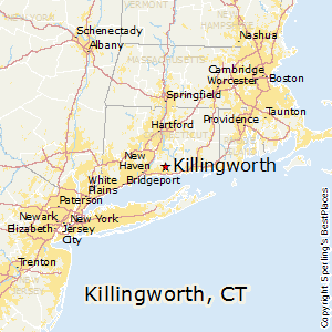 Killingworth,Connecticut Map