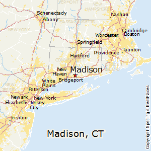 Madison,Connecticut Map