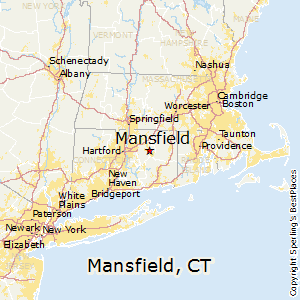 Mansfield,Connecticut Map