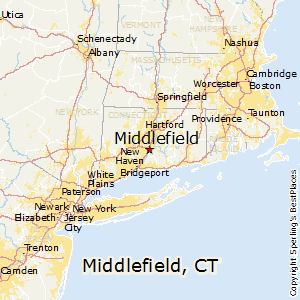 Middlefield,Connecticut Map