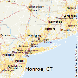 Monroe,Connecticut Map
