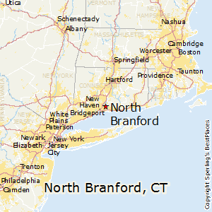 North_Branford,Connecticut Map