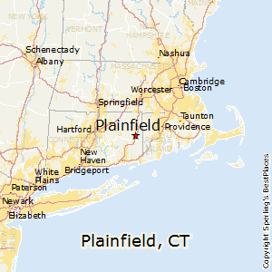 Plainfield,Connecticut Map