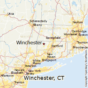 Winchester,Connecticut Map