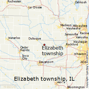 Elizabeth_township,Illinois Map