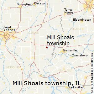 Mill_Shoals_township,Illinois Map