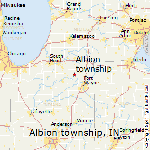 Albion_township,Indiana Map