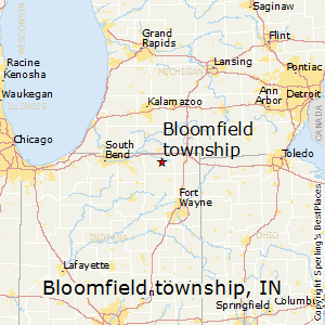 Bloomfield_township,Indiana Map