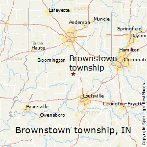 Brownstown_township,Indiana Map