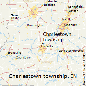 Charlestown_township,Indiana Map
