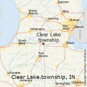 Clear_Lake_township,Indiana Map