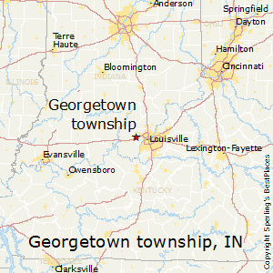 Georgetown_township,Indiana Map