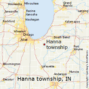 Hanna_township,Indiana Map
