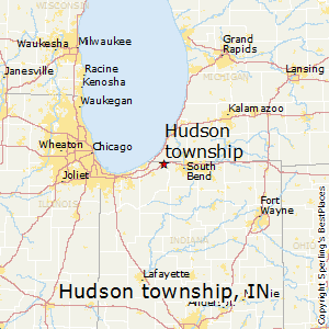 Hudson_township,Indiana Map