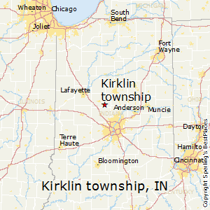 Kirklin_township,Indiana Map