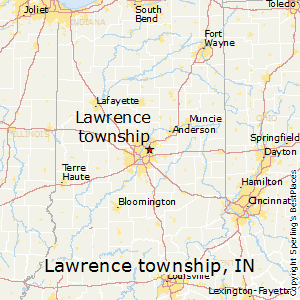 Lawrence_township,Indiana Map